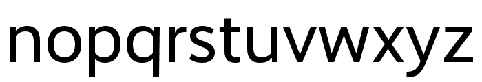 RealistWide Regular Font LOWERCASE