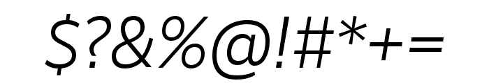 RealistWide SemiLight Italic Font OTHER CHARS