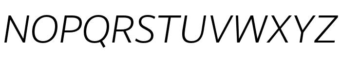 RealistWide SemiLight Italic Font UPPERCASE