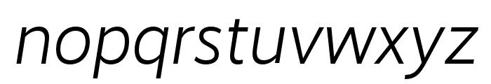 RealistWide SemiLight Italic Font LOWERCASE