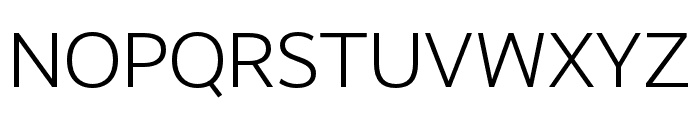RealistWide SemiLight Font UPPERCASE