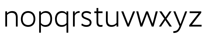 RealistWide SemiLight Font LOWERCASE