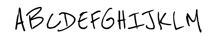 Reenie Beanie Regular Font UPPERCASE
