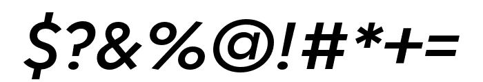 Regulator Nova Demi Bold Italic Font OTHER CHARS