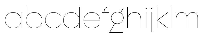 Regulator Nova Extra Light Font LOWERCASE