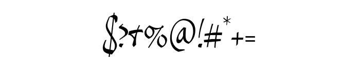 ReinerScript Regular Font OTHER CHARS