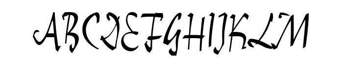 ReinerScript Regular Font UPPERCASE