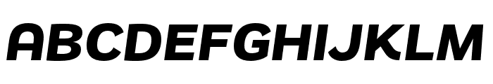 Remora Sans W4 Bold Italic Font UPPERCASE
