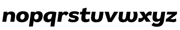 Remora Sans W4 Bold Italic Font LOWERCASE