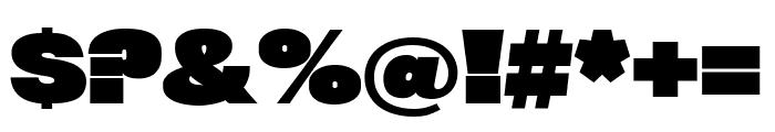 Rhode BlackCondensed Font OTHER CHARS