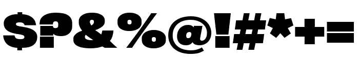 Rhode BoldCondensed Font OTHER CHARS