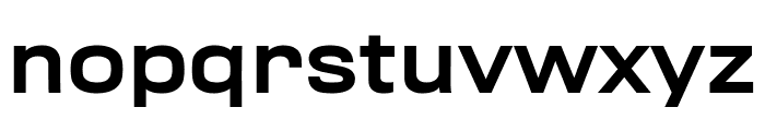 Rhode MediumExtended Font LOWERCASE