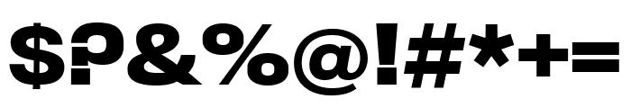 Rhode SemiboldCondensed Font OTHER CHARS