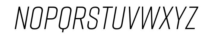 Rift Light Italic Font LOWERCASE