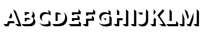 Rig Shaded Bold Face Font LOWERCASE