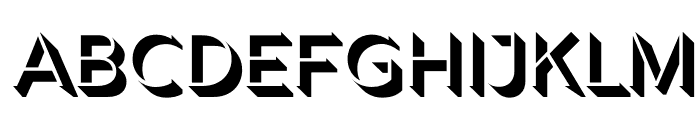 Rig Shaded Light Face Font UPPERCASE