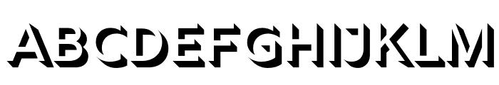 Rig Shaded Medium Shadow Font UPPERCASE