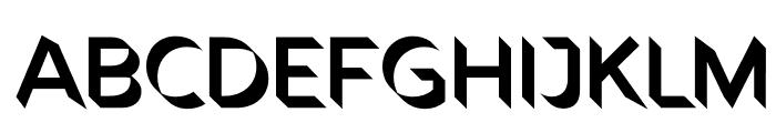 Rig Shaded Zero Shading Fine Font UPPERCASE