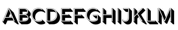 Rig Solid Light Halftone Font LOWERCASE
