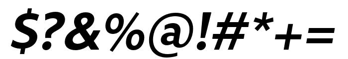 Rival Sans Narrow Bold italic Font OTHER CHARS
