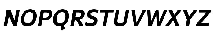 Rival Sans Narrow Bold italic Font UPPERCASE