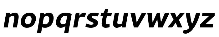 Rival Sans Narrow Bold italic Font LOWERCASE
