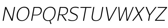 Rival Sans Narrow ExtraLight italic Font UPPERCASE