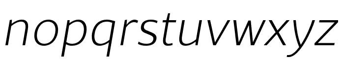 Rival Sans Narrow ExtraLight italic Font LOWERCASE