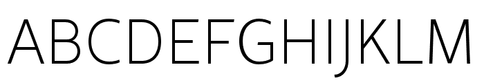 Rival Sans Narrow ExtraLight Font UPPERCASE