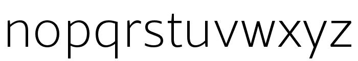 Rival Sans Narrow ExtraLight Font LOWERCASE