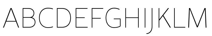 Rival Sans Narrow Light italic Font UPPERCASE