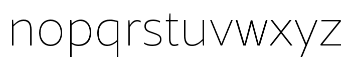 Rival Sans Narrow Light italic Font LOWERCASE