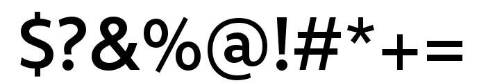 Rival Sans Narrow Medium Font OTHER CHARS
