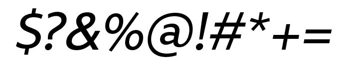 Rival Sans Narrow Regular italic Font OTHER CHARS