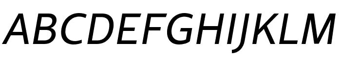 Rival Sans Narrow Regular italic Font UPPERCASE