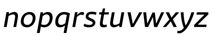 Rival Sans Narrow Regular italic Font LOWERCASE