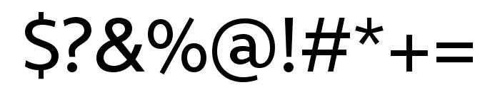 Rival Sans Narrow Regular Font OTHER CHARS