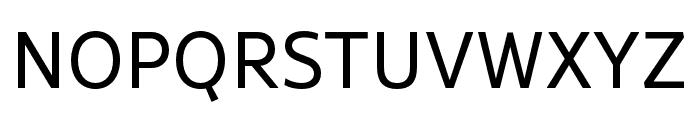 Rival Sans Narrow Regular Font UPPERCASE