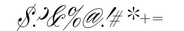 Rizado Script Regular Font OTHER CHARS