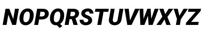 Roboto Black Italic Font UPPERCASE