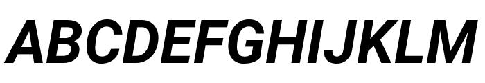 Roboto Condensed Bold Italic Font UPPERCASE