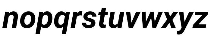 Roboto Condensed Bold Italic Font LOWERCASE