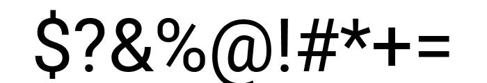 Roboto Condensed Regular Font OTHER CHARS