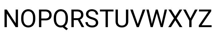 Roboto Condensed Regular Font UPPERCASE