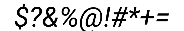Roboto Italic Font OTHER CHARS