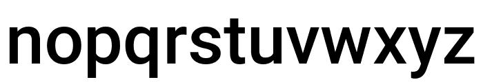 Roboto Medium Font LOWERCASE