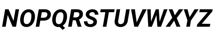 Roboto Mono Bold Italic Font UPPERCASE