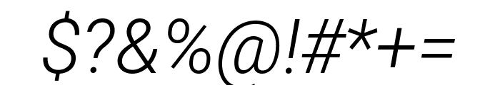 Roboto Mono Light Italic Font OTHER CHARS