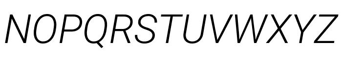 Roboto Mono Light Italic Font UPPERCASE