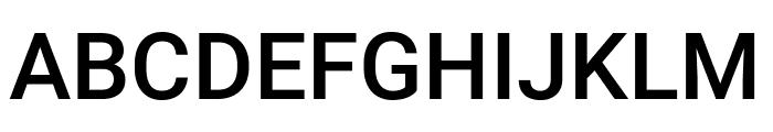 Roboto Mono Medium Font UPPERCASE